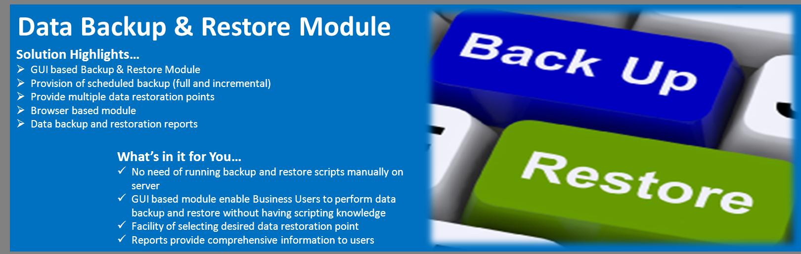 Dspace Data Backup & Restore